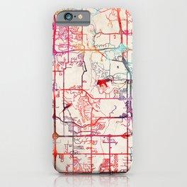 Lenexa map Kansas KS iPhone Case