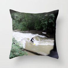Perpetual Surfer Throw Pillow