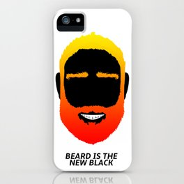 BEARD IS THE NEW BLACK iPhone Case