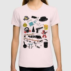 Artifacts: Breaking Bad SMALL Womens Fitted Tee Light Pink