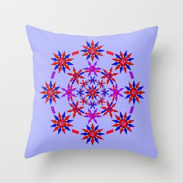 Shuriken Lotus Flower v3 Throw Pillow