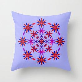 Shuriken Lotus Flower v3 Throw Pillow