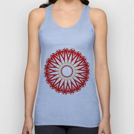 Mandala with colon cancer ribbon Unisex Tank Top