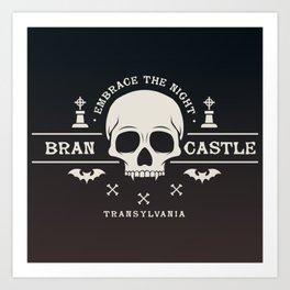 Gamer Geeky Chic Castlevania Inspired Bran Castle Transylvania Vampire Night Art Print