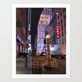 NYC - West 43rd Street / Broadway Art Print