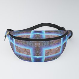 geometric ink blot and smudge ancient techno geek pattern Fanny Pack