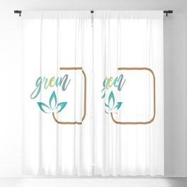 Go green- Respect for nature Blackout Curtain