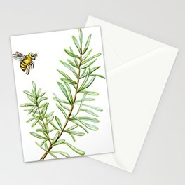 Rosemary and Honey Bee Stationery Cards