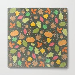 Thanksgiving pattern Metal Print