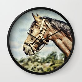 Horse Profile Wall Clock