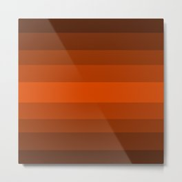Sienna Spiced Orange - Color Therapy Metal Print