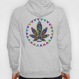 Butterflies Cannabis Leaf 2 Hoody