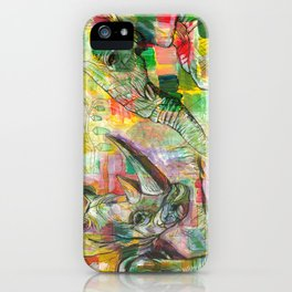 Rhinoceros Love and Friendly Observer Together! iPhone Case