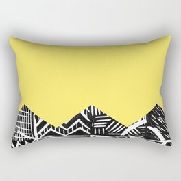 Lemon lino bright Rectangular Pillow