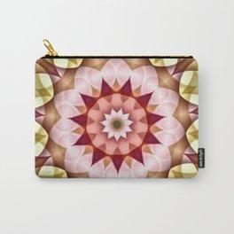 Pink Green Flower Kaleidoscope Carry-All Pouch