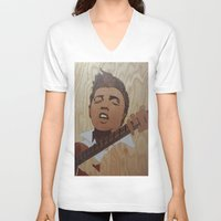 elvis presley V-neck T-shirts featuring Elvis Presley  by Andulino