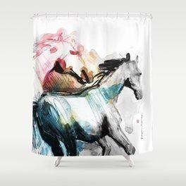 Horses (Mom&kid fragment) Shower Curtain