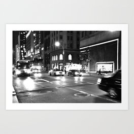 5th Avenue Noir Art Print