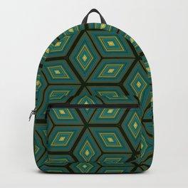 Cubed Geometrical Pattern Backpack