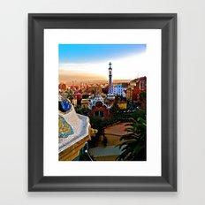 Barcelona - Gaudí's Park Güell Framed Art Print