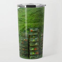 Stack of Commercial Crab Pots  Travel Mug