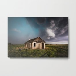 Pioneer - Abandoned Settlement Under Storm On Colorado Plains Metal Print