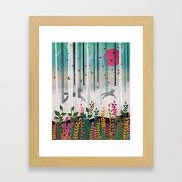 Flying Horses Framed Art Print