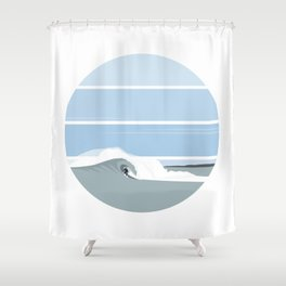Surfer's Glory Day Shower Curtain