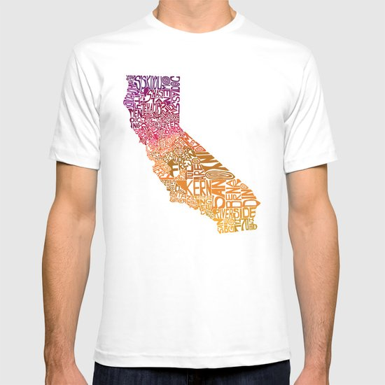 Typographic California - Autumn T-shirt