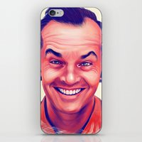 jack nicholson iPhone & iPod Skins featuring Young Jack Nicholson and the evil smile - digital painting by Thubakabra