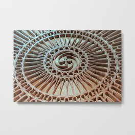 The Iron Lattice Metal Print