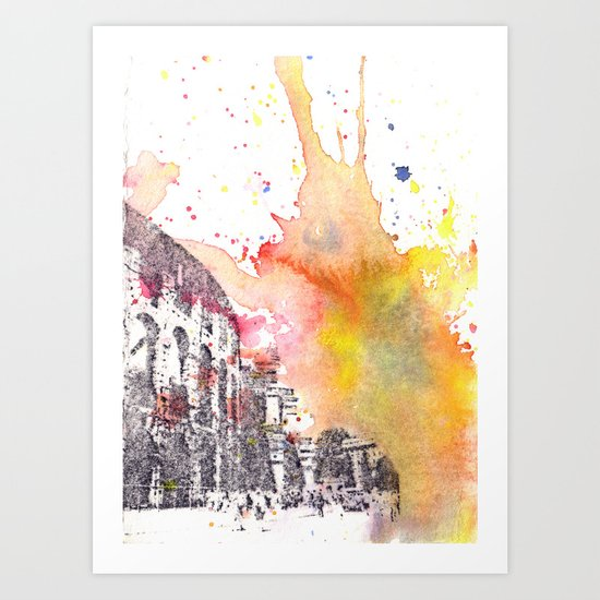 Italy Rome Colosseum Art Print