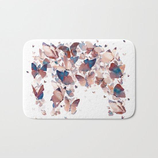 Butterfly Assemblage Bath Mat