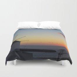 Sunset in Santorini Duvet Cover