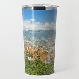 Aerial View of Medellin from Nutibara Hill Travel Mug