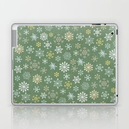 christmas snowy green Laptop & iPad Skin