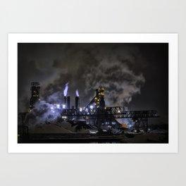 Steel Mill Cleveland, Ohio Industrial Art Print