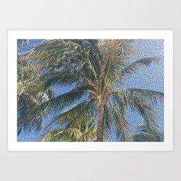 Palm Tree Peace Painting #society6 Art Print