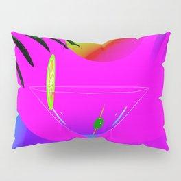 Colorful ,exotic,tropical des,sunset,cocktail,palm trees Pillow Sham