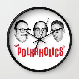 "The Polkaholics!  ""Polka Heads!"" Wall Clock"