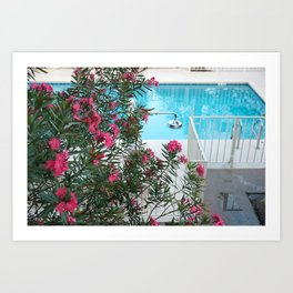 flowers at the pool Art Print