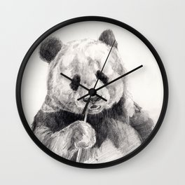 Panda black white Wall Clock