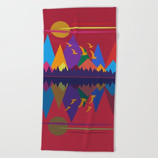 Mountain Scene #9 Beach Towel
