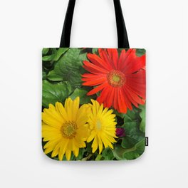 Colorful Daisies Tote Bag
