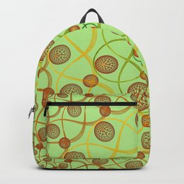 Spiral Round Green Backpack