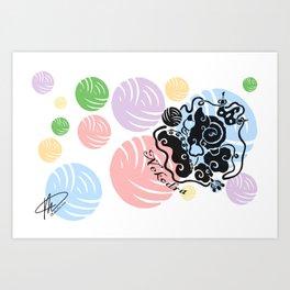 Rainbow Yarn Logo (Light Bg) Art Print