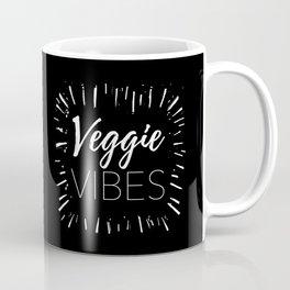 Veggie Vibes Black Coffee Mug