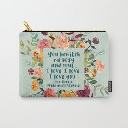 Pride and prejudice, you bewitch me florals Carry-All Pouch