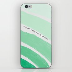 Every Plan is a Tiny Prayer to Father Time iPhone & iPod Skin