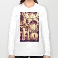 prague Long Sleeve T-shirts featuring Prague-Church by jbjart